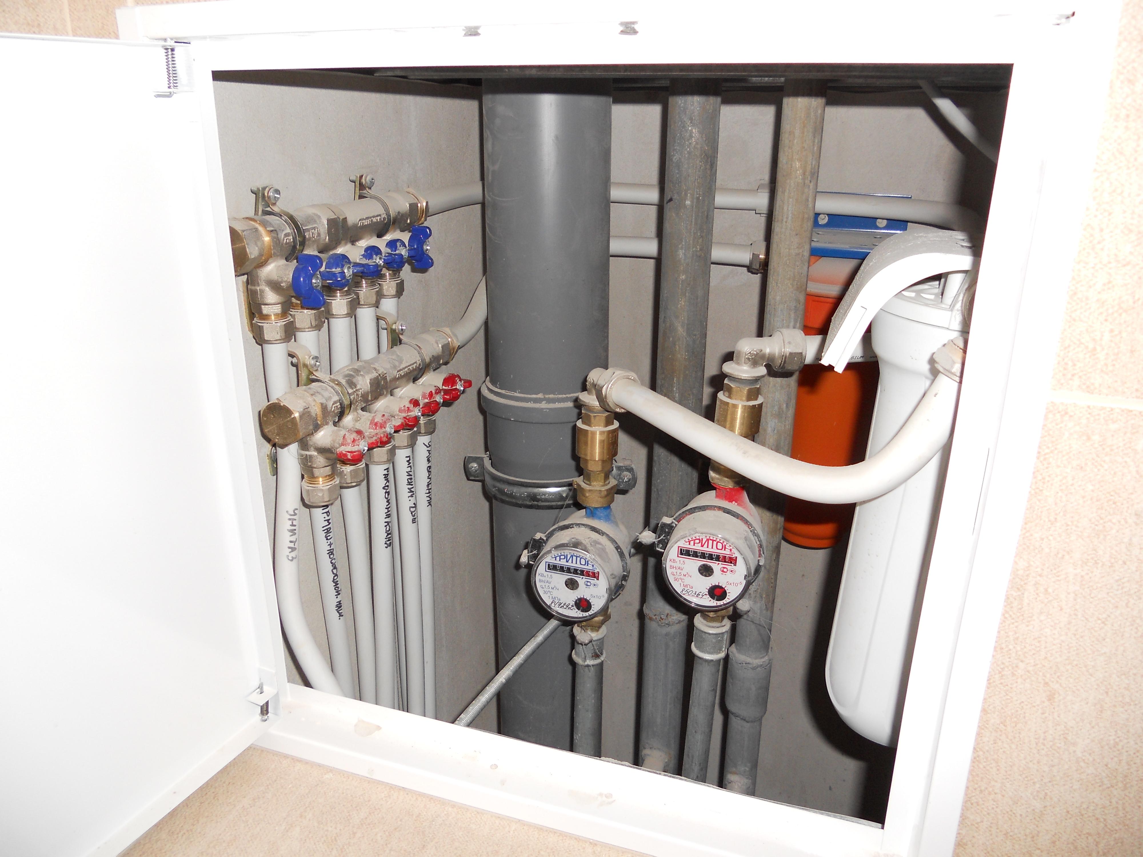 61Монтаж водопроводных труб в квартире