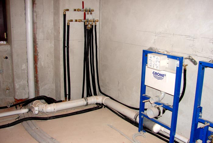 Разводка канализационных труб в ванной и туалете своими руками 730